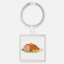 Ham Dinner Platter Keychains