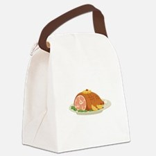 Ham Dinner Platter Canvas Lunch Bag