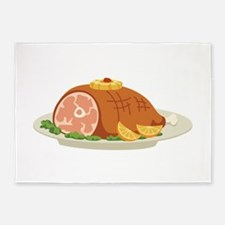 Ham Dinner Platter 5'x7'Area Rug