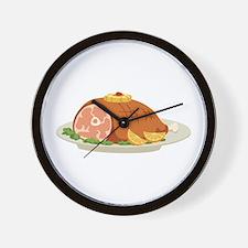Ham Dinner Platter Wall Clock