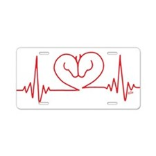 Horses Love Heartbeats Hear Aluminum License Plate