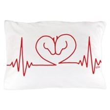 Horses Love Heartbeats Heart Pillow Case