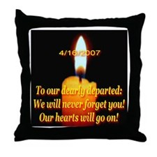 4/16/2007 To Our Dearly Depar Throw Pillow