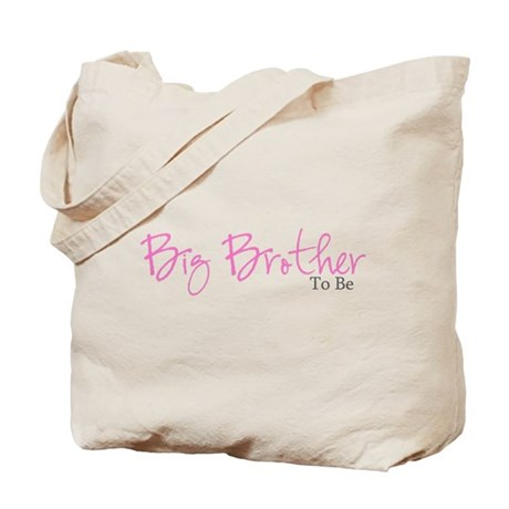 Big Brother To Be (Pink Script) Tote Bag