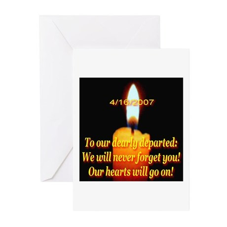 4/16/2007 To Our Dearly Depar Greeting Cards (Pack