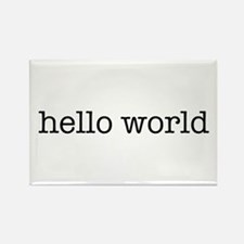 Hello World Rectangle Magnet