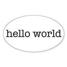 Hello World Oval Decal