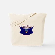 Flag of Guam ribbon Tote Bag