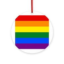 Rainbow Gay Pride Flag Ornament (Round)
