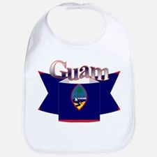 Flag of Guam ribbon Bib