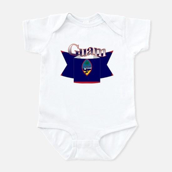 Flag of Guam ribbon Infant Bodysuit