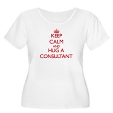 Keep Calm and Hug a Consultant Plus Size T-Shirt