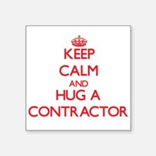 Keep Calm and Hug a Contractor Sticker