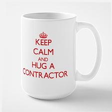 Keep Calm and Hug a Contractor Mugs