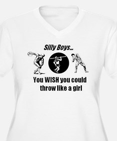 Thrower Girl Plus Size T-Shirt