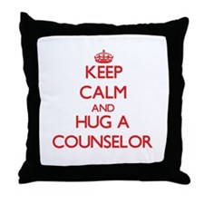 Keep Calm and Hug a Counselor Throw Pillow