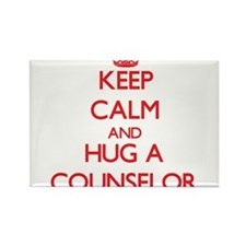 Keep Calm and Hug a Counselor Magnets