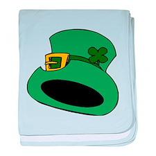 St. Patricks Day Leprechaun Hat baby blanket