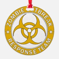 Zombie Outbreak Response Gold Team  Ornament