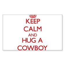 Keep Calm and Hug a Cowboy Decal
