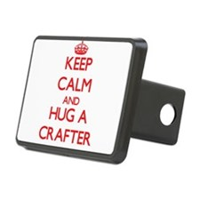 Keep Calm and Hug a Crafter Hitch Cover