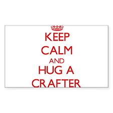 Keep Calm and Hug a Crafter Decal
