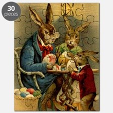 Easter rabbits painting eggs 2 Puzzle