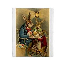 Funny Rabbit Throw Blanket