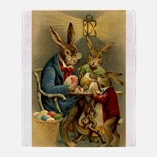 Cute Easter rabbit Throw Blanket