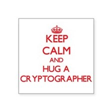 Keep Calm and Hug a Cryptographer Sticker