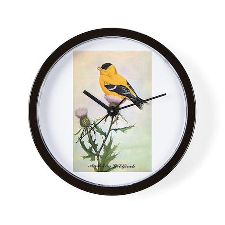American Goldfinch Bird Wall Clock