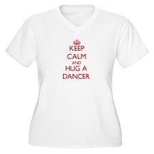 Keep Calm and Hug a Dancer Plus Size T-Shirt