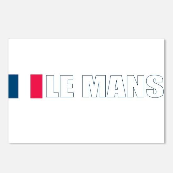 Le Mans, France Postcards (Package of 8)