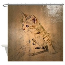 painted cat Shower Curtain