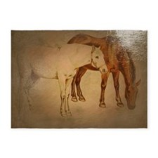painted horses 5'x7'Area Rug