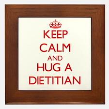 Keep Calm and Hug a Dietitian Framed Tile