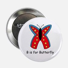 """B is for Butterfly 2.25"""" Button"""