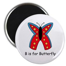 """B is for Butterfly 2.25"""" Magnet (100 pack)"""