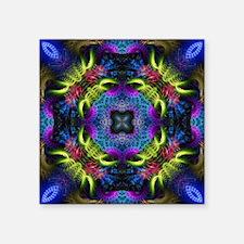 "Goa Nights - Geometric Frac Square Sticker 3"" x 3"""