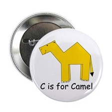 """C is for Camel 2.25"""" Button"""