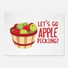 Lets Go Apple Picking! 5'x7'Area Rug