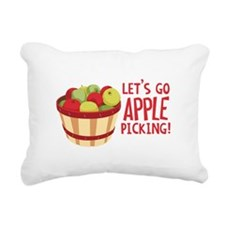 Lets Go Apple Picking! Rectangular Canvas Pillow