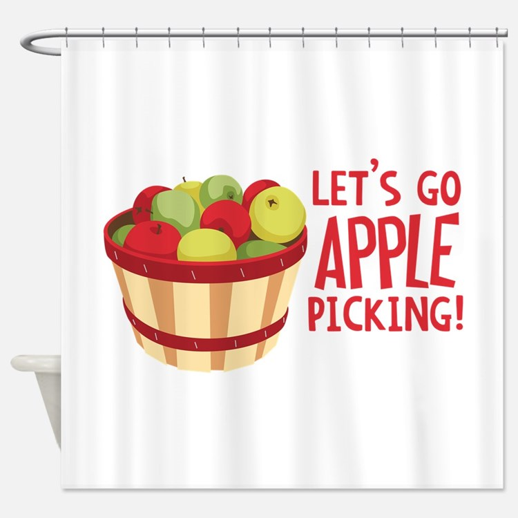 apple shower curtains apple fabric shower curtain liner. Black Bedroom Furniture Sets. Home Design Ideas