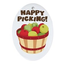 Happy Picking! Ornament (Oval)
