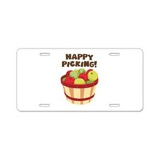 Happy Picking! Aluminum License Plate