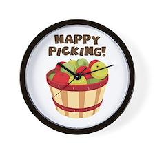 Happy Picking! Wall Clock