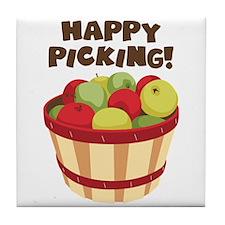 Happy Picking! Tile Coaster