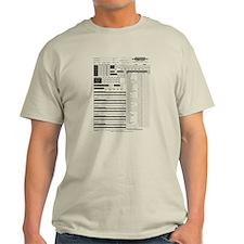 D&D Character Sheet T-Shirt