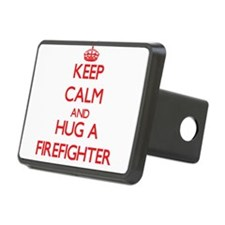 Keep Calm and Hug a Firefighter Hitch Cover