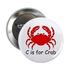"""C is for Crab 2.25"""" Button (10 pack)"""